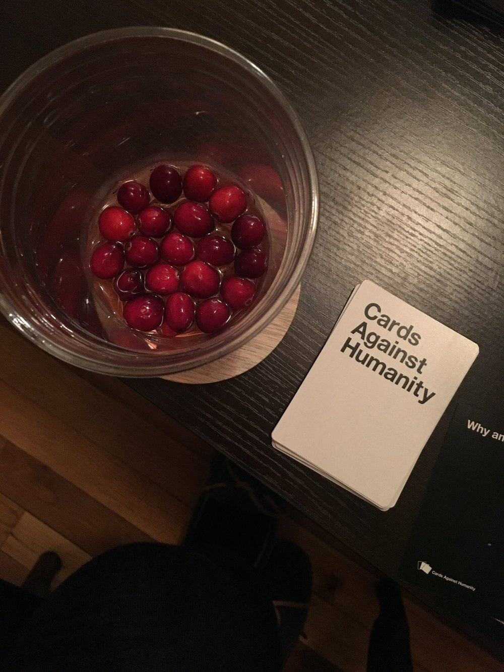 bri rinehart; christmas cocktail; cards against humanity