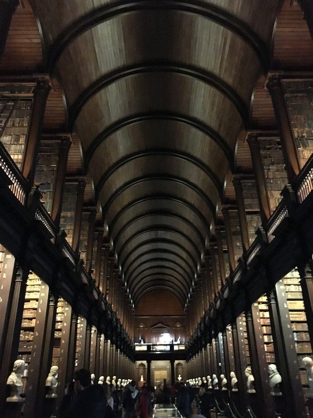 bri rinehart; long library; ireland; dublin; trinity college