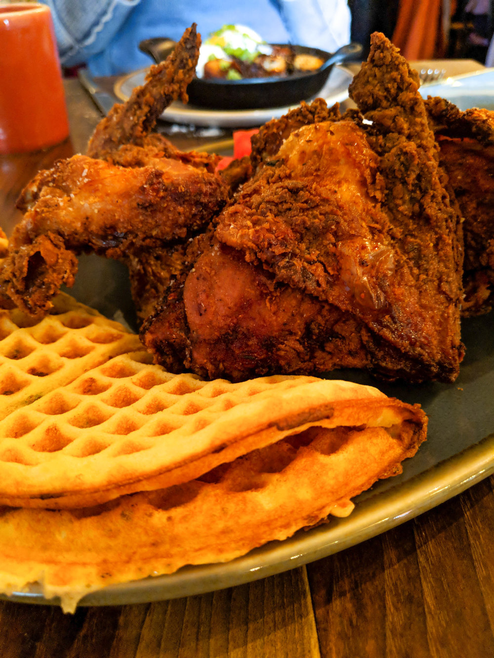 bri rinehart; buttermilk & bourbon; chicken & waffles