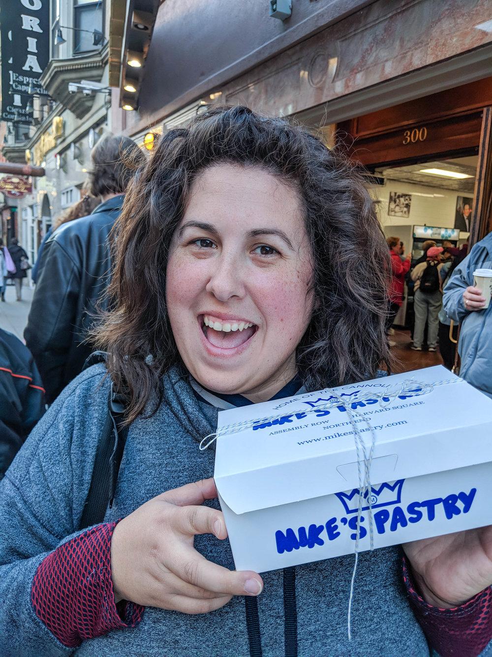 bri rinehart; photography; boston; mike's pastry; food