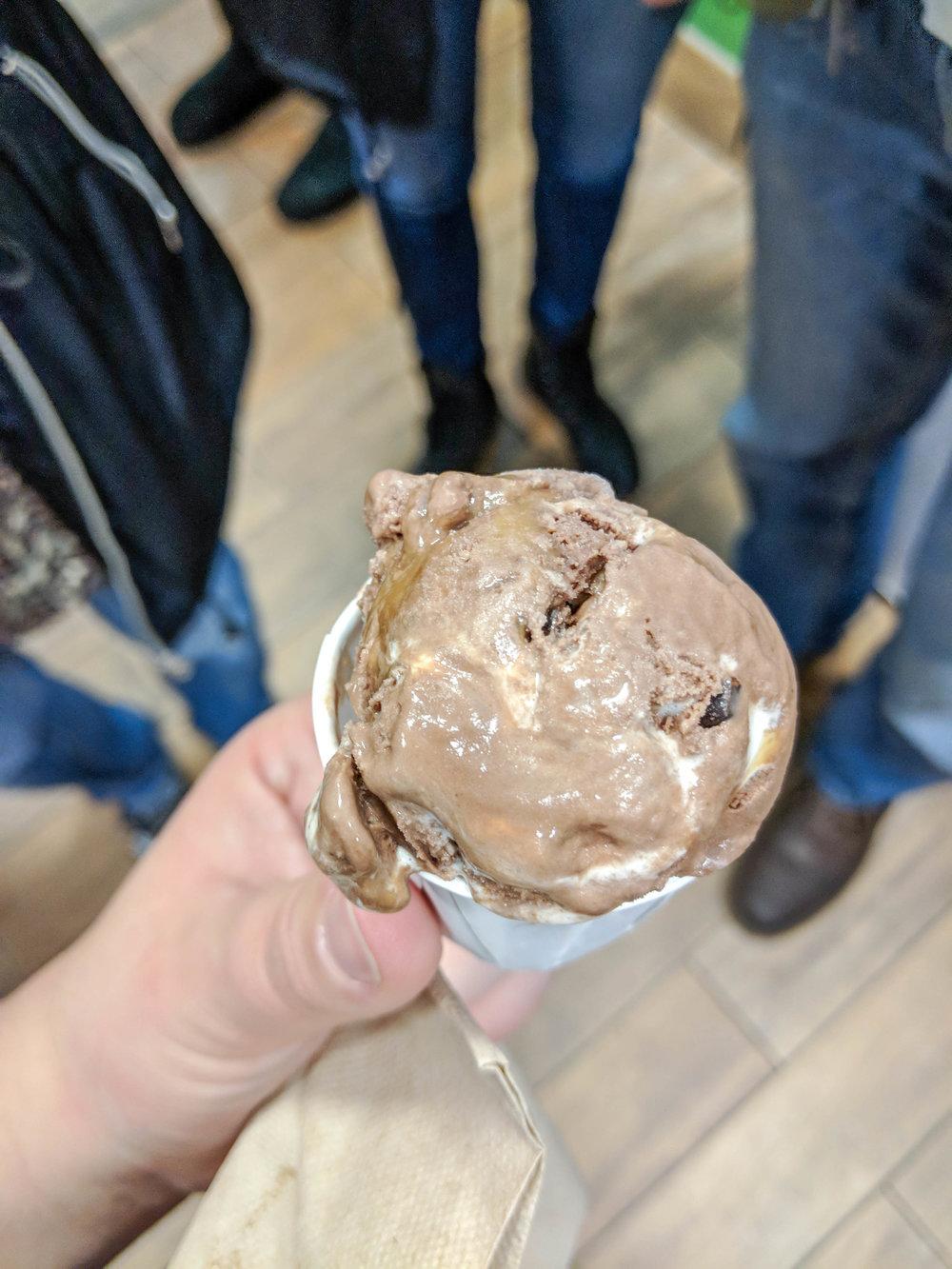 bri rinehart; ben and jerry's factory; tour; ice cream
