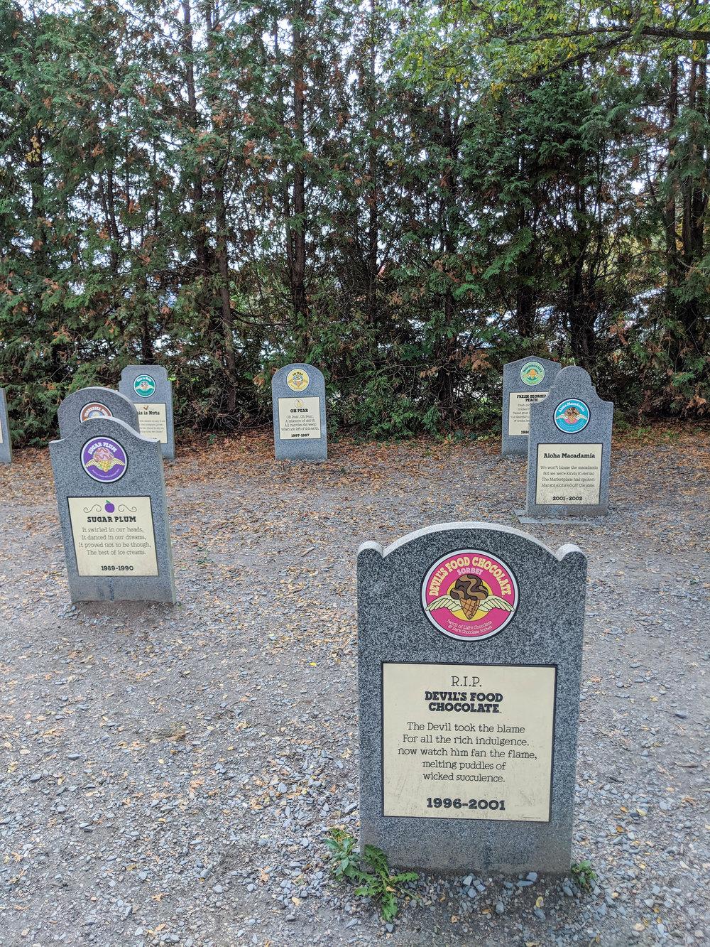 bri rinehart; flavor graveyard; ben and jerry's factory; tour