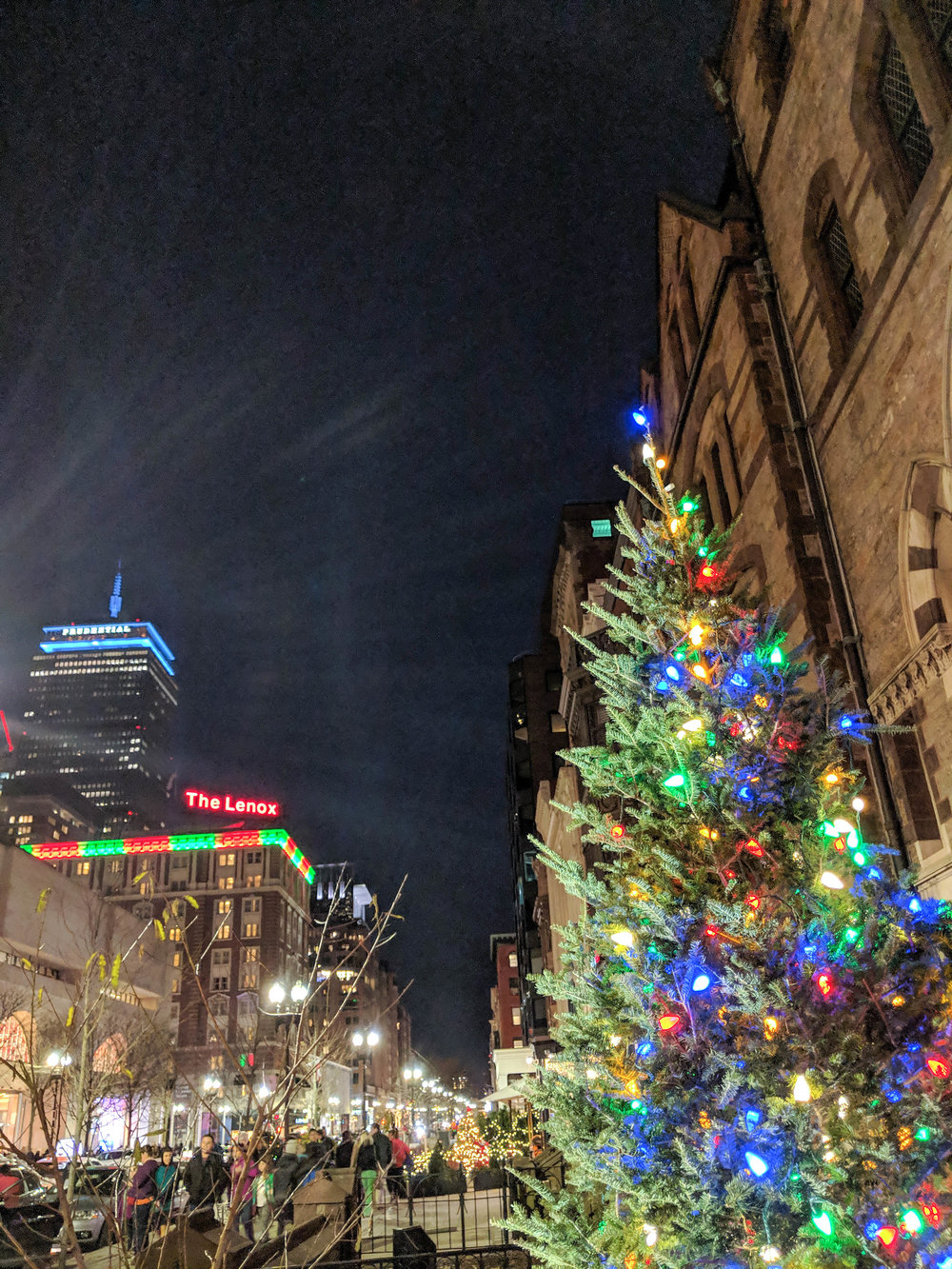 bri rinehart; boston; photography; back bay; Christmas tree; prudential center