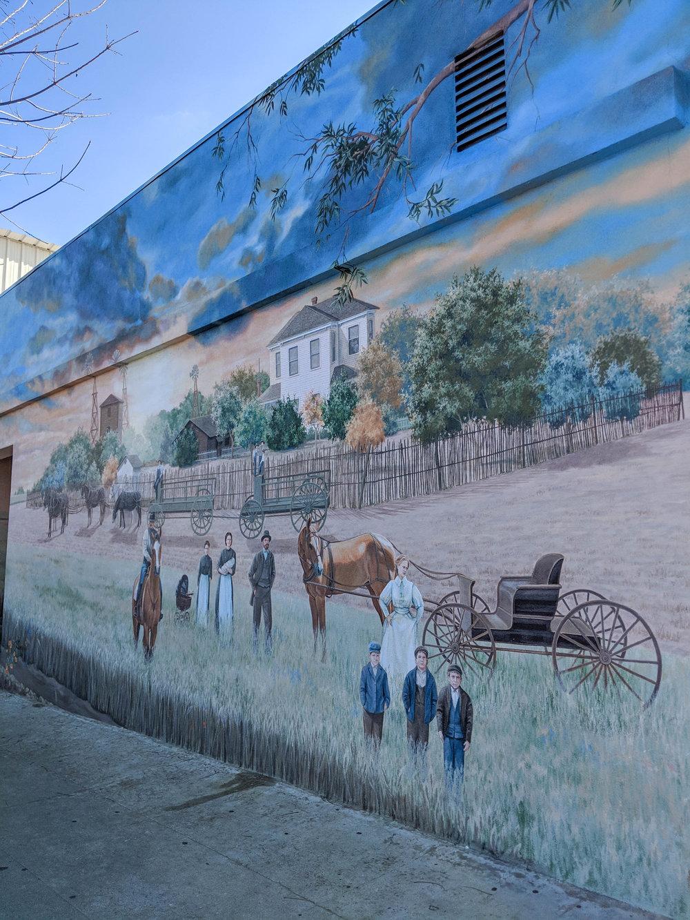 bri rinehart; murals; exeter; california