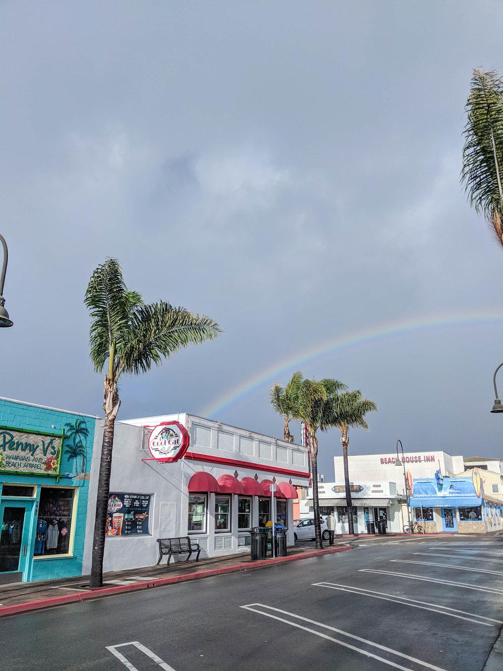 bri rinehart; photography; rainbow; california; pismo beach