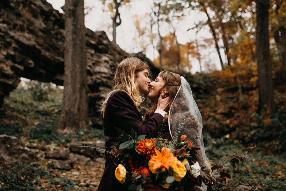 Jessie + Matt Intimate Wedding at The Lodge at Rockspan Farm | Inner Images Photography