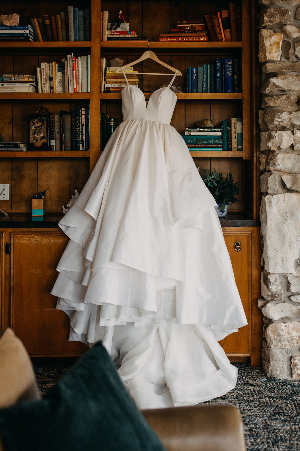 Jessie + Matt Stunning White Wedding Gown from Normans Bridal SGF MO | Inner Images Photography