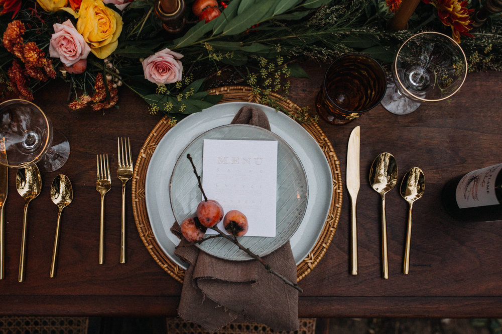 Autumnal, Organic Tablescape designed by Wildly Collective | Inner Images Photography