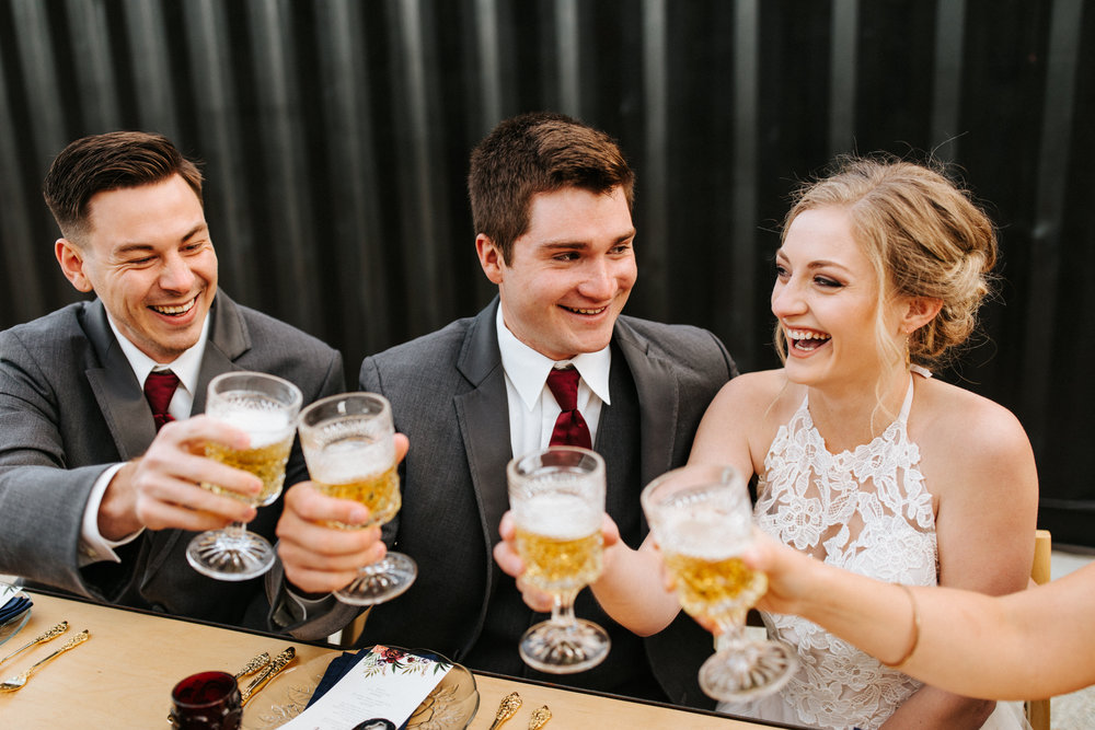 How To Choose Your Wedding Party With Free Downloadable Guide by Unions With Celia   Andrew Edwards Photography   The Co-op Venue at Stewart Farms   Stevie Rozean Co Stationary   The Vintage Rental Company