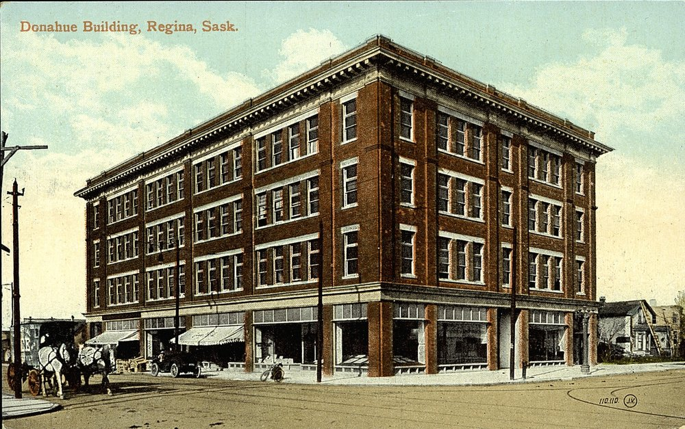 Donahue Building before the 1912 Regina Cyclone. Courtesy University of Alberta, Peel's Prairie Provinces.