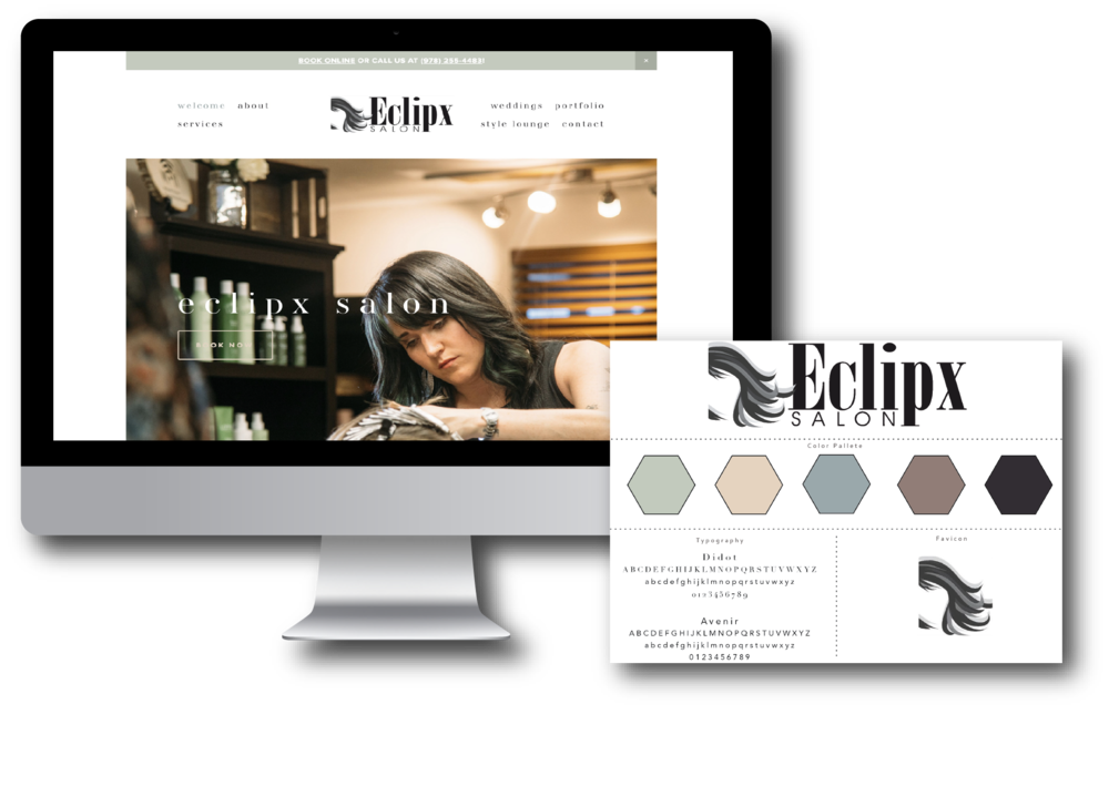 Eclipx Hair Salon Custom Squarespace Website Design by Elevenly Studio