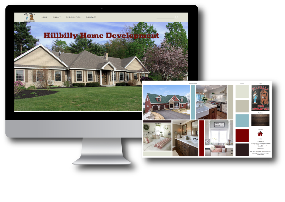 Hillbilly Home Development Custom Squarespace Website Design by Elevenly Studio