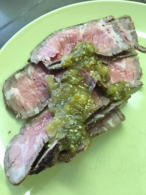 Tri-tip with Salsa Verde