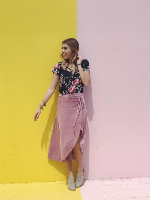 Navy and Pink Floral Top// Shop Hazel Avenue