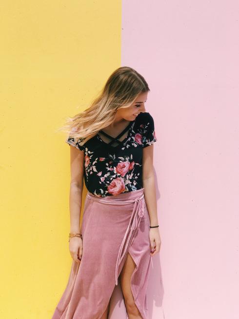ASOS Wrap Midi Skirt in Velvet// ASOS