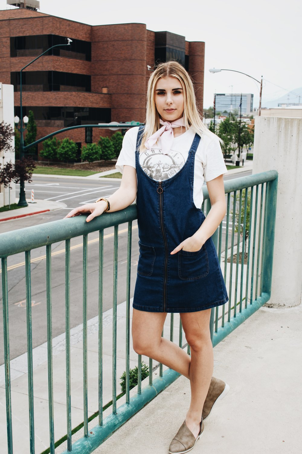 Overall Dress//  Forever 21 -- (Similar  here  and  here )