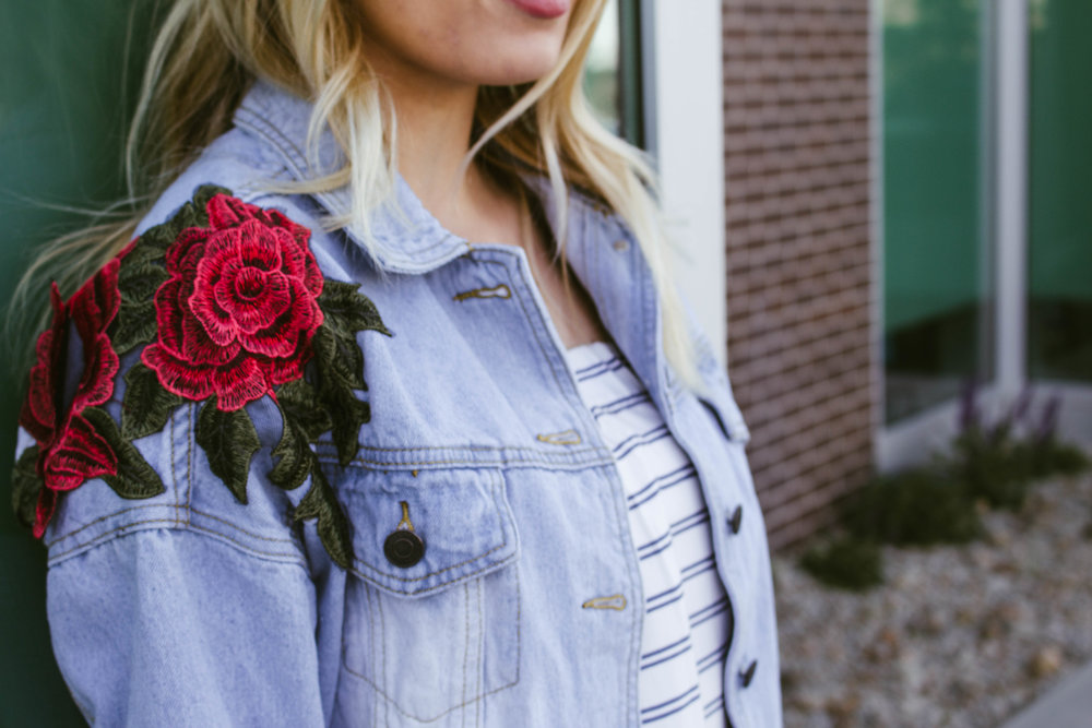 Embroidered Denim Jacket//  BB Styled Boutique  (coming soon)-- Similar  here  and  here