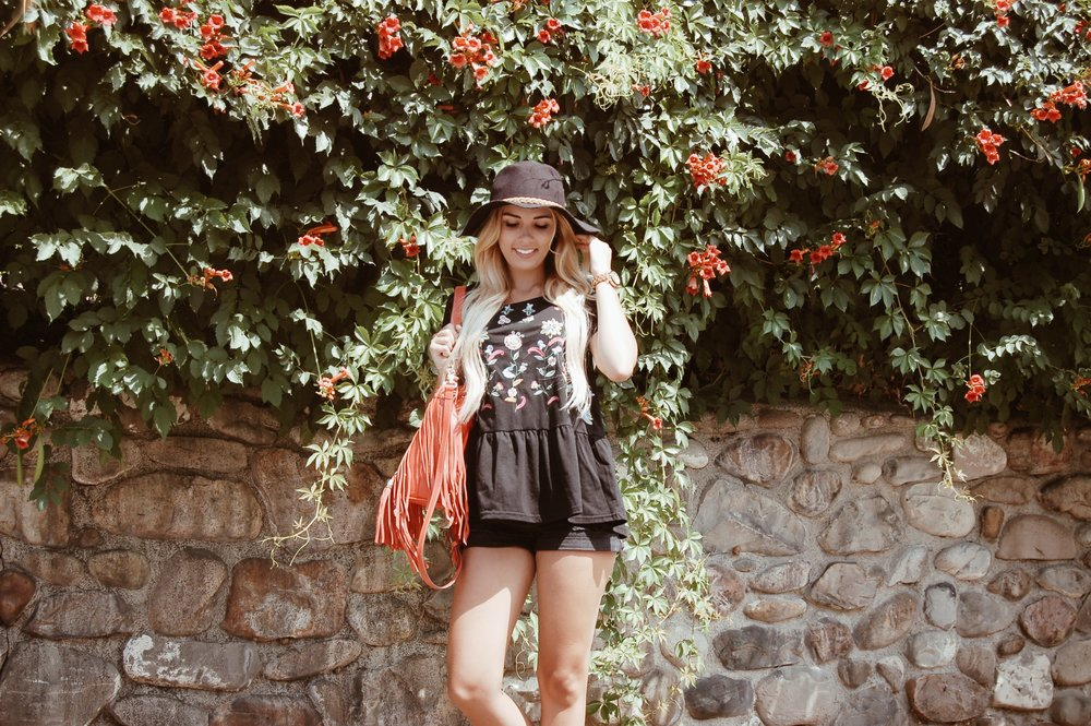 Embroidered Babydoll Top (LISTED AND ON MAJOR SALE THIS FRIDAY )// BB Styled Boutique    Thank you to Ivory Clasp, Hidden Crown, Bloom and Press and BB Styled for sponsoring this post.  XO- Sydney Lauren