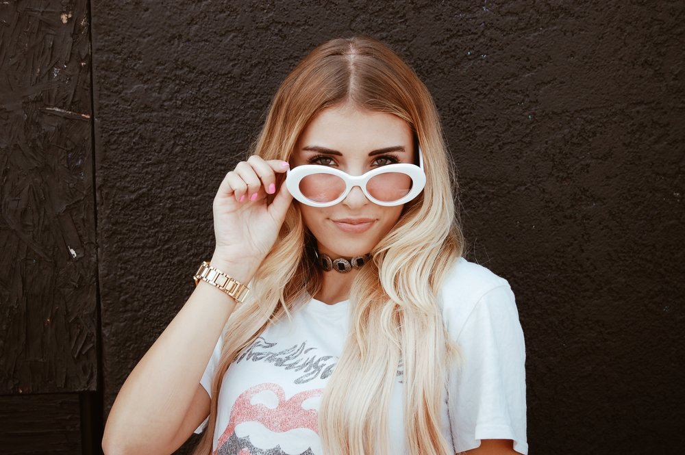 Western Choker// Forever 21   Hope you enjoyed my look book with  Sunglass Up  and special thanks to  Sunglass Up  for sponsoring this post. Make sure to check them out and use my discount code  SYDSNELT15  for 15% off your purchase until the end of this month!  xo,  Sydney Lauren