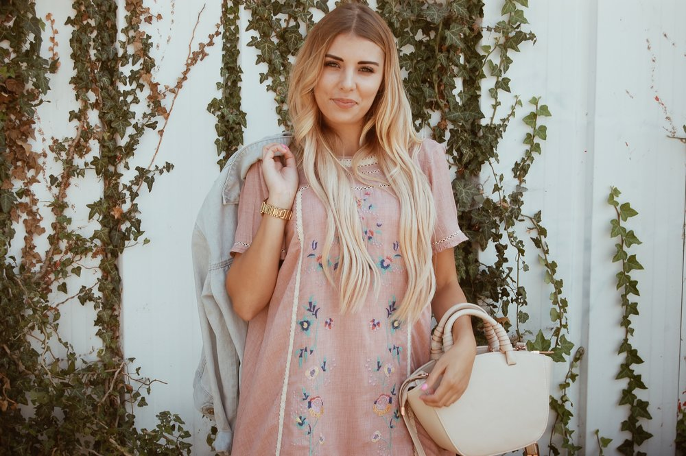 Luxe Embroidered Tunic Dress//  BB Styled Boutique