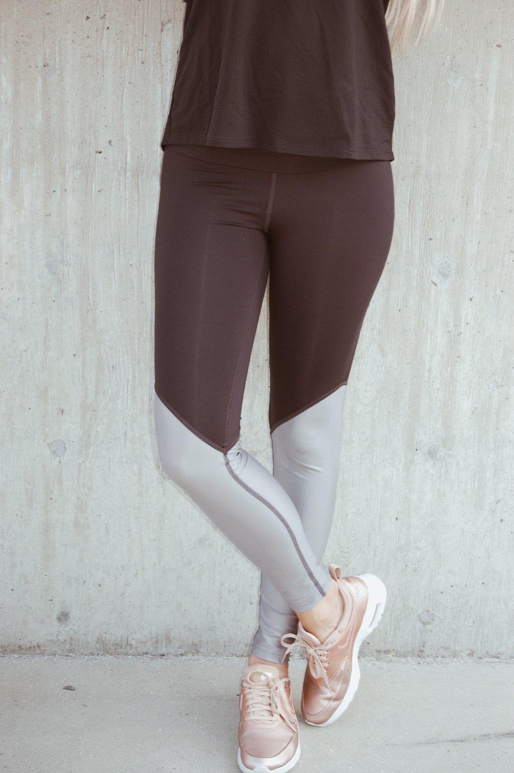 50/50 Pant Black/ Platinum Yoga Pants//  Pheel