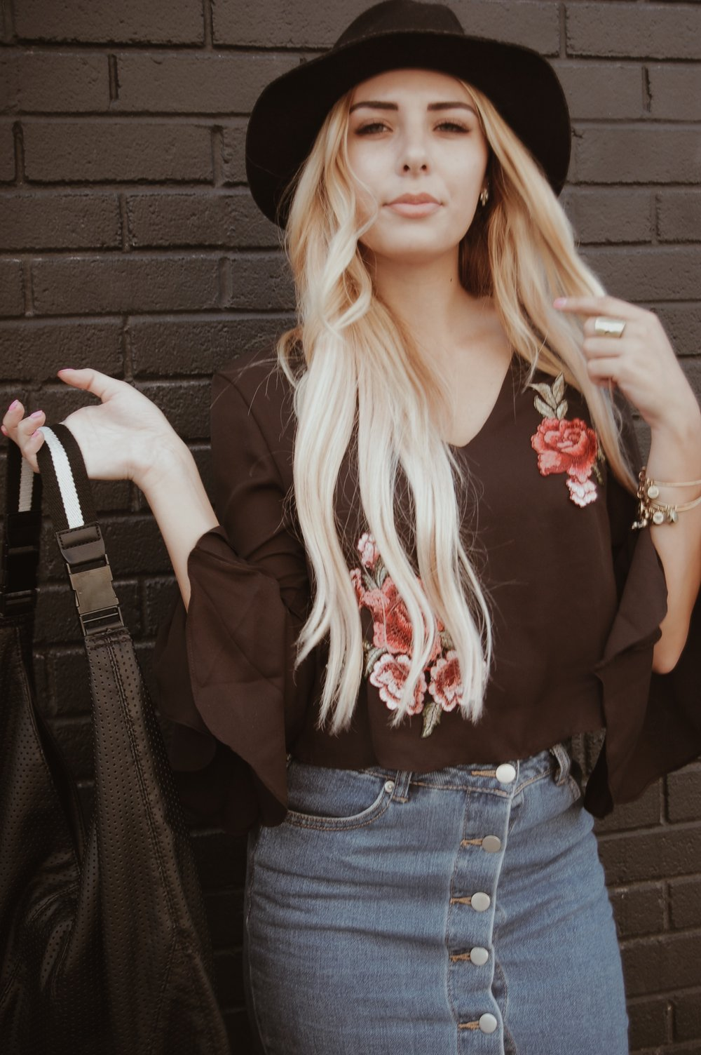 Stop and Smell the Roses Top//  Shop Side of Guac