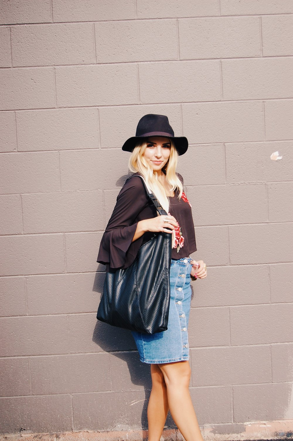 Denim Skirt//  Forever 21   Special thanks to Shop Side of Guac and Ivory Clasp for sponsoring this post!  XO,  Sydney Lauren
