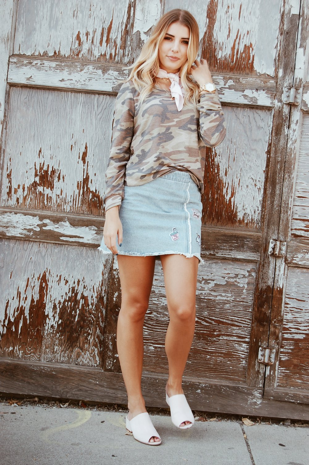 Patchwork Denim Skirt//  Heavenly Couture