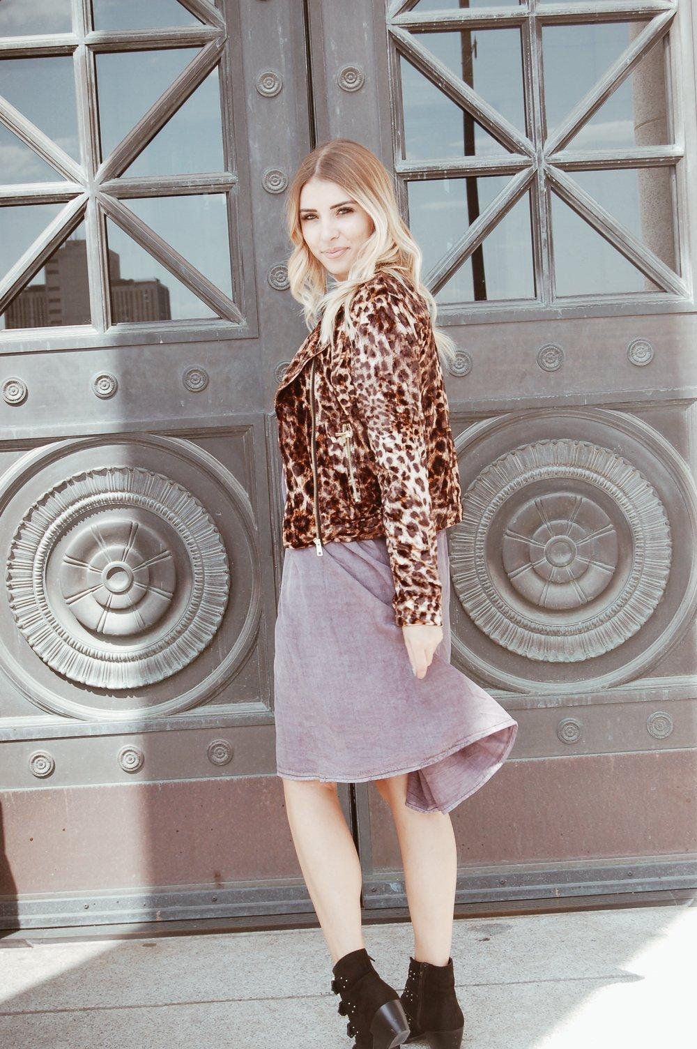 Leopard Print Moto Jacket// Marshall's--  similar here
