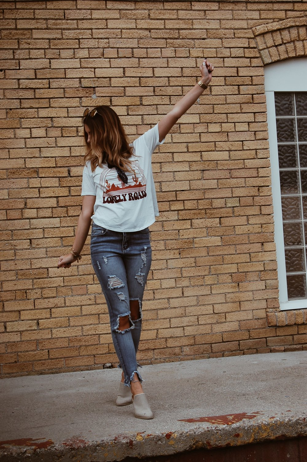 Distressed Denim Jeans// BB Styled Boutique