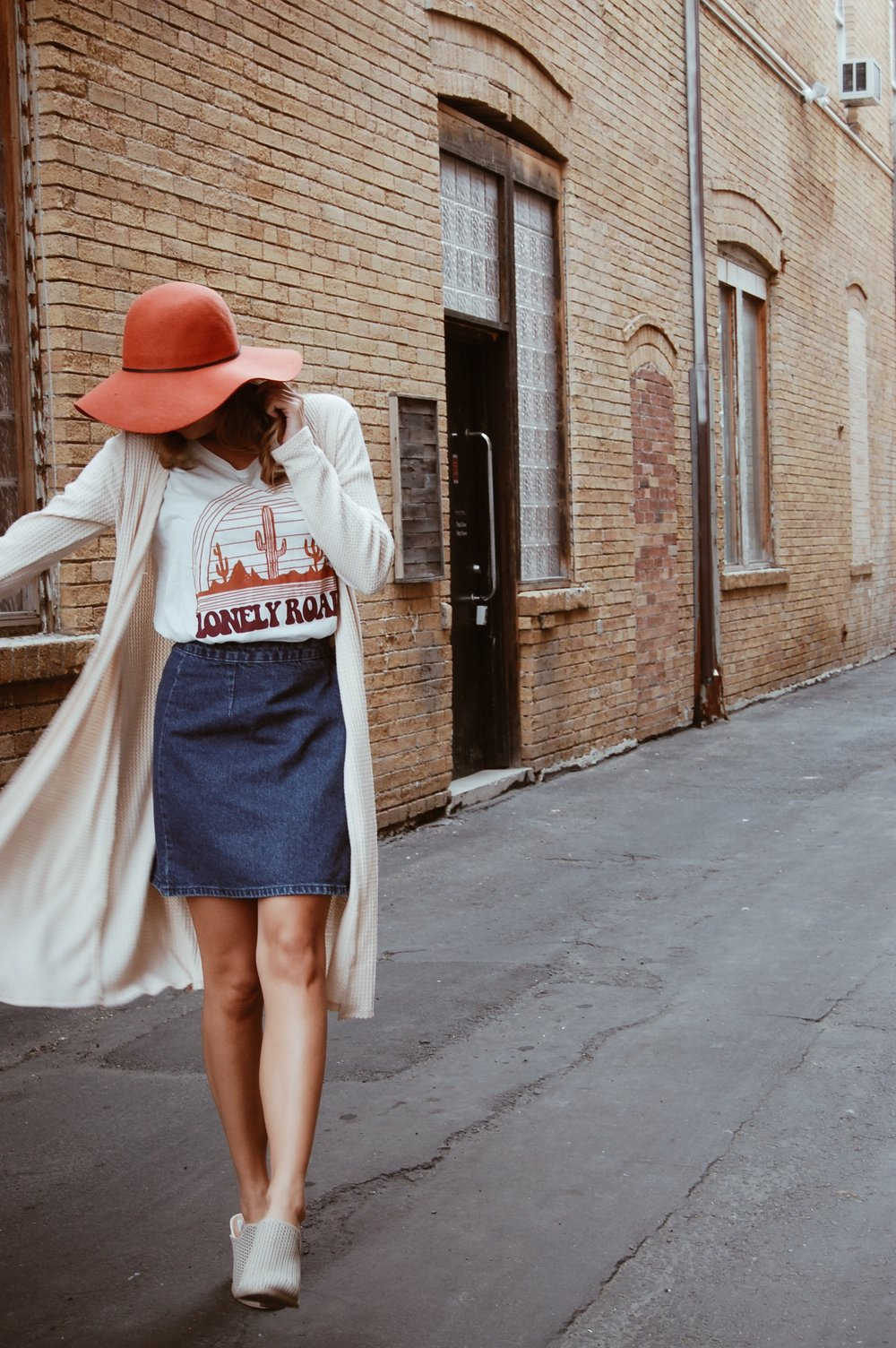 Rust floppy hat//  Charming Charlie's