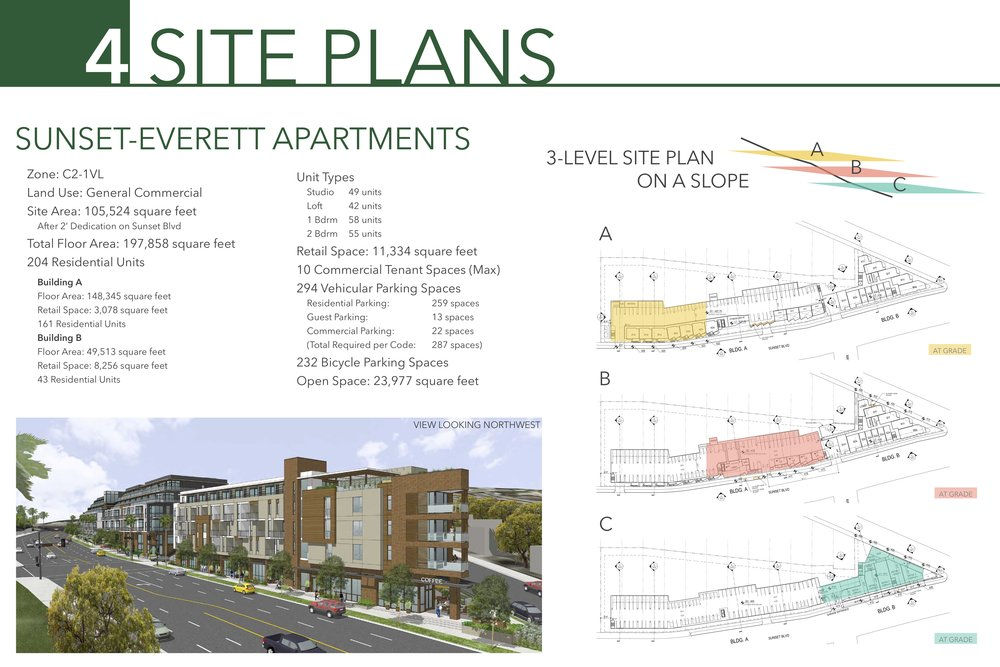 Site Plan Board  for three6ixty client for public outreach meetings; InDesign, Illustrator.