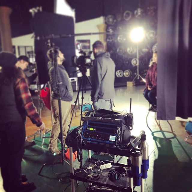 Fun and easy shoot yesterday for an auto ad. Pulled out the Olympia Tools cart! #soundmixer #sounddevices #lectrosonics #orcabags #sennheiser #setselfie #locationaudio #productionsound