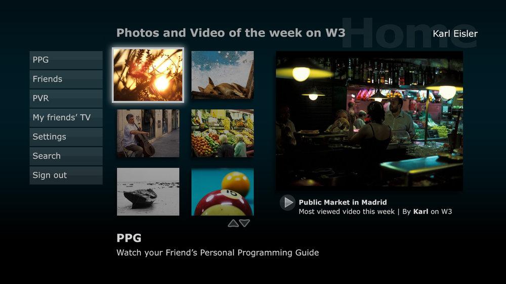 W3 interactive TV concept