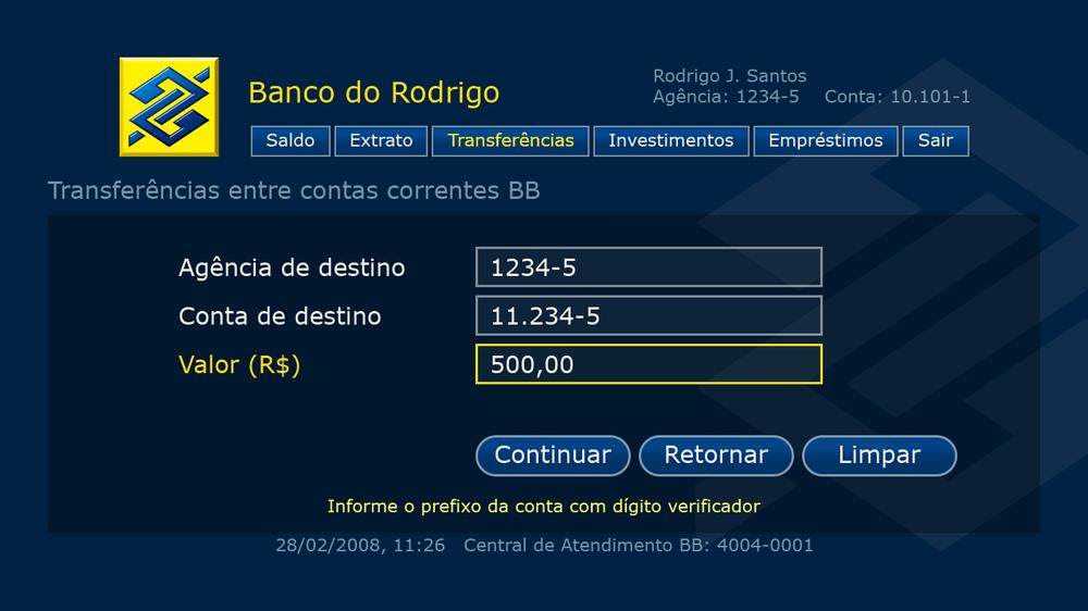 BB Media Center Banking tranfer