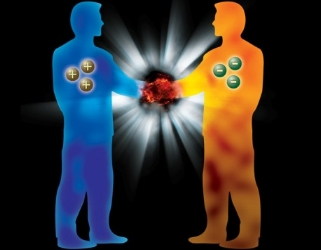 Particles and antiparticles annihilate when they meet. Can we imagine a world with people made out of antimatter? Credit: CERN.