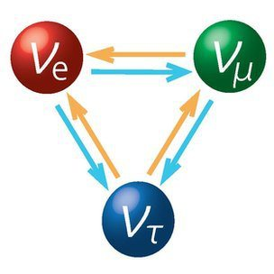 Different types of neutrinos can transform into one another. It is also possible that neutrino particles can transform into antiparticles.