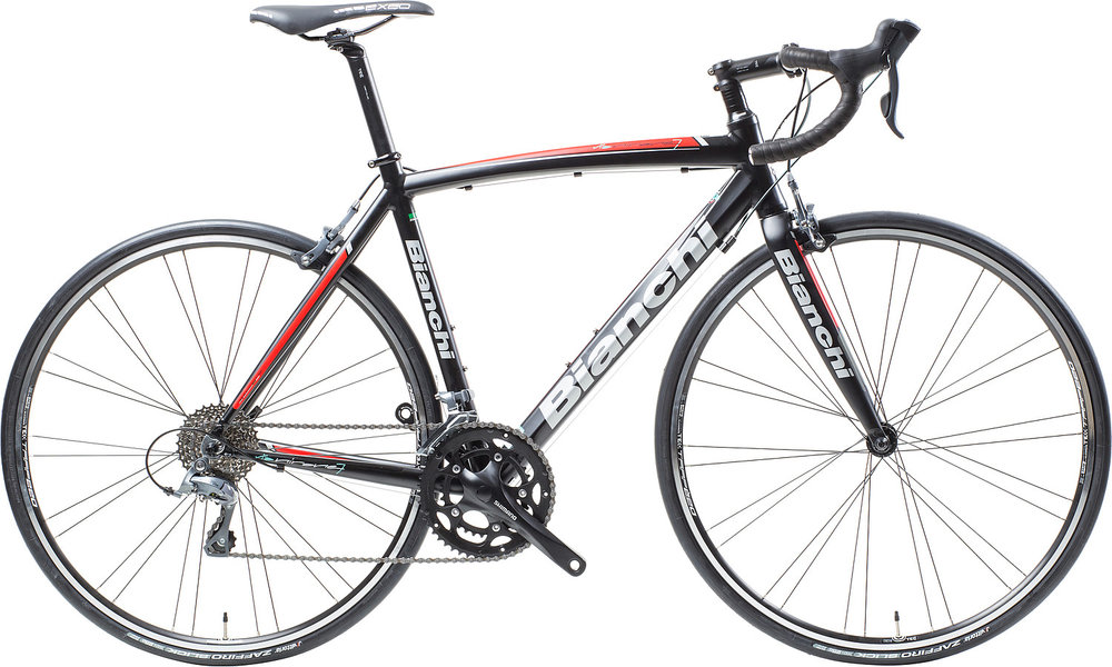 BianchiVia Nirone Claris - Sale Price $729.99(Regular Price $800.00)Aluminum frame, carbon fork, Shimano Claris 2 x 8 speed shifting.Available Sizes: 55cm, 57cm