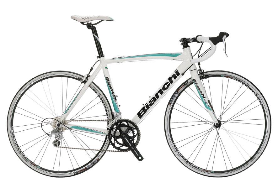 BianchiVia Nirone Sora - Sale Price $729.99 (Regular Price $969.99)Aluminum frame, carbon fork, Shimano Sora 2 x 9 speed shifting.Available Sizes: 46cm