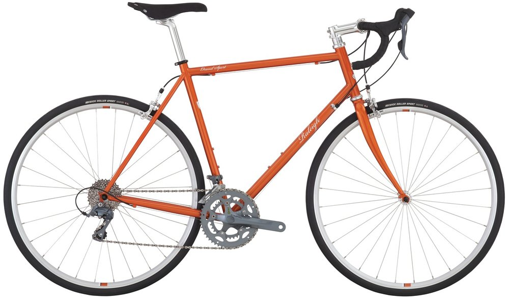 Raleigh Grand Sport - Sale Price $699.99 (Regular Price $849.99)Steel frame and fork, Shimano Claris 2 x 8 speed shifting, 700 x 28c tires.Available Sizes: 56cm, 58cm, 60cm