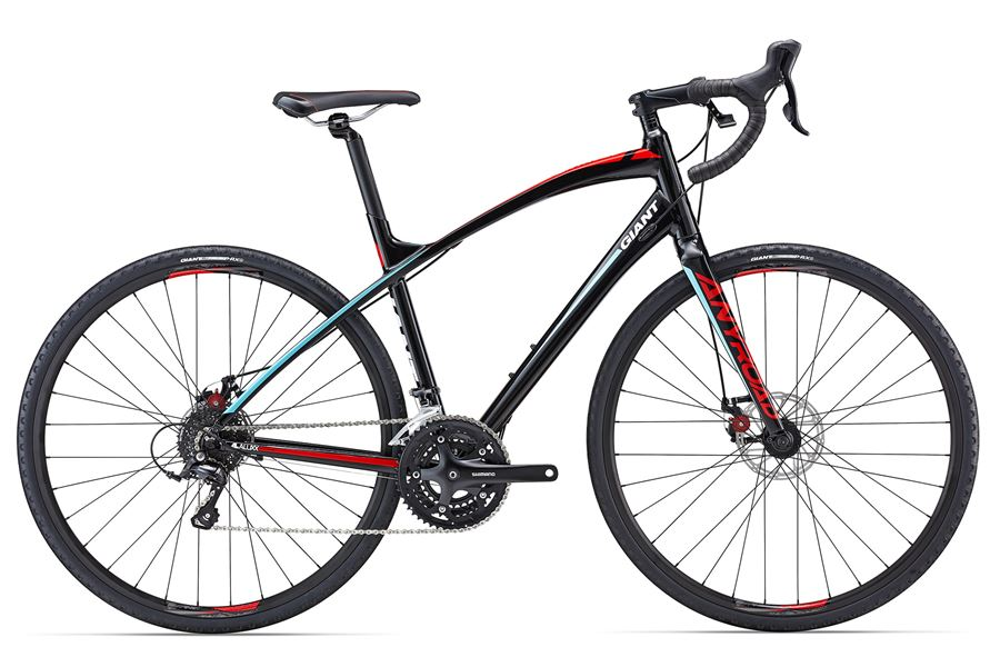 Giant AnyRoad 2 - Sale Price $899.99 (Regular Price $1,100.00)Aluminum frame, carbon fork, Shimano Sora 3 x 9 speed shifting, Avid BB5 mechanical disc brakes.Available Sizes: XL