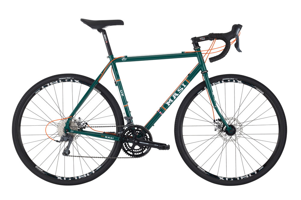 Masi CX - Sale Price $829.99 (Regular Price $939.99)Steel frame and fork, Shimano Claris 3 x 8 speed shifting,eyelets for front and rear racks, 700 x 38c tires.Available Sizes: 49cm, 53cm