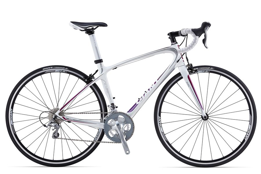 Liv Avail Composite 3 - Sale Price $1,399.99 (Regular Price $1,550.00)Composite grade carbon frame and fork, Shimano Tiagra 2 x 10 speed shifting, Tektro R540 caliper brakes, Giant PR-2 wheels.Available Sizes: X-Small