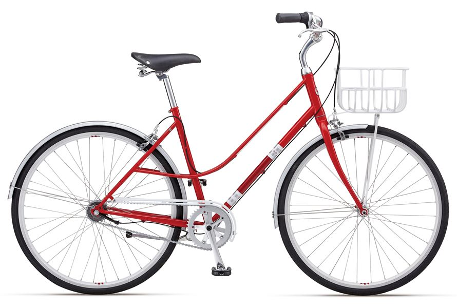 Giant Via 1 W - Sale Price $449.99 (Regular Price $600.00)4130 butted chromoly frame and fork, SRAM I-Motion internal 3-speed twist style shifting, includes matching front basket and fenders.Available Sizes: Small