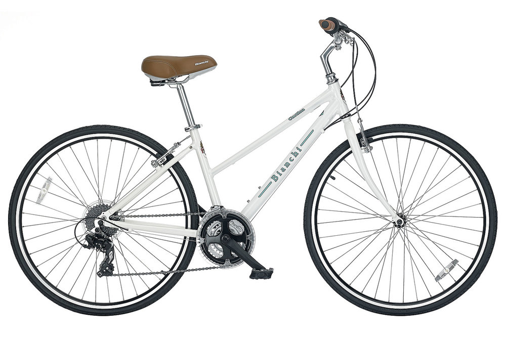 Bianchi Cortina Dama - Sale Price $389.99 (Regular Price $489.99)Aluminum frame, steel fork, Shimano twist style 3 x 8 speed shifting.Available Sizes: 50cm (red color option only)