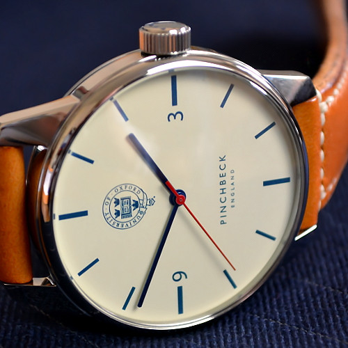 The Hawksmoor - A timepiece of everlasting simplicity, the Pinchbeck Hawksmoor bespeaks the excellence for which Oxford University is world-renowned. Their crest is a discreet element of its design.Quartz or Automatic.5 Year warranty.90 Day returns policy.£1199 to £1999.