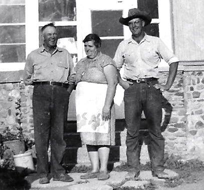 Grandpa and Grandma and their son Marvin or Tige as most knew him. Grandpa was a Swede and Grandma Hazel was mainly of Danish descent with a little Penn.Dutch thrown in to keep us all proper.