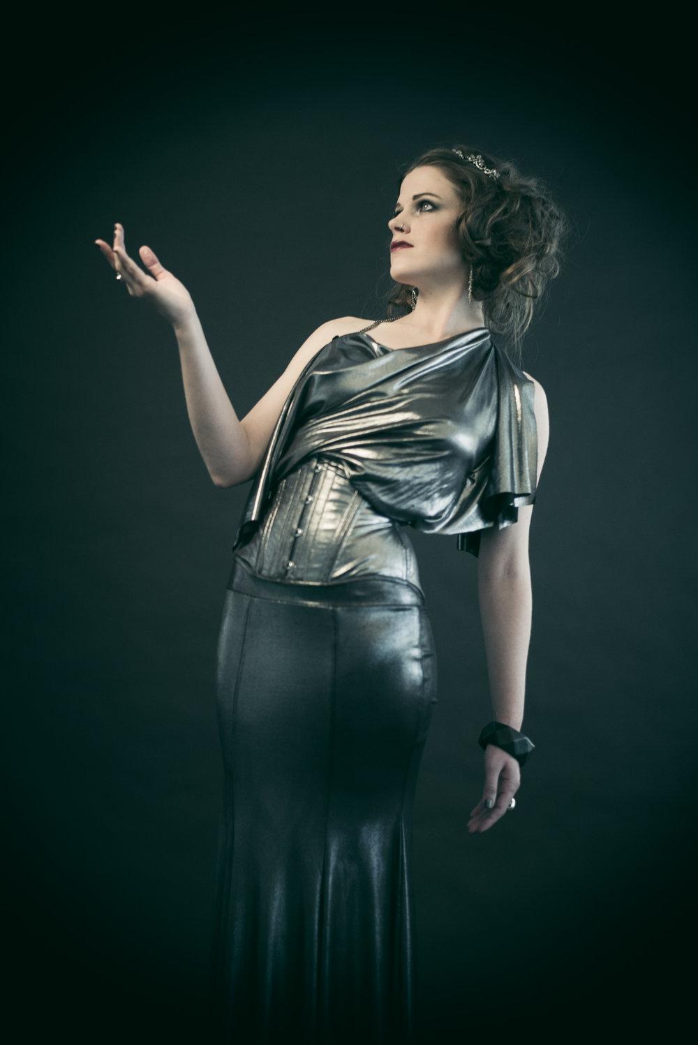 Dollymop for Dark Garden   Couture  ensemble | Model: Euphrates X | Photo © Joel Aron