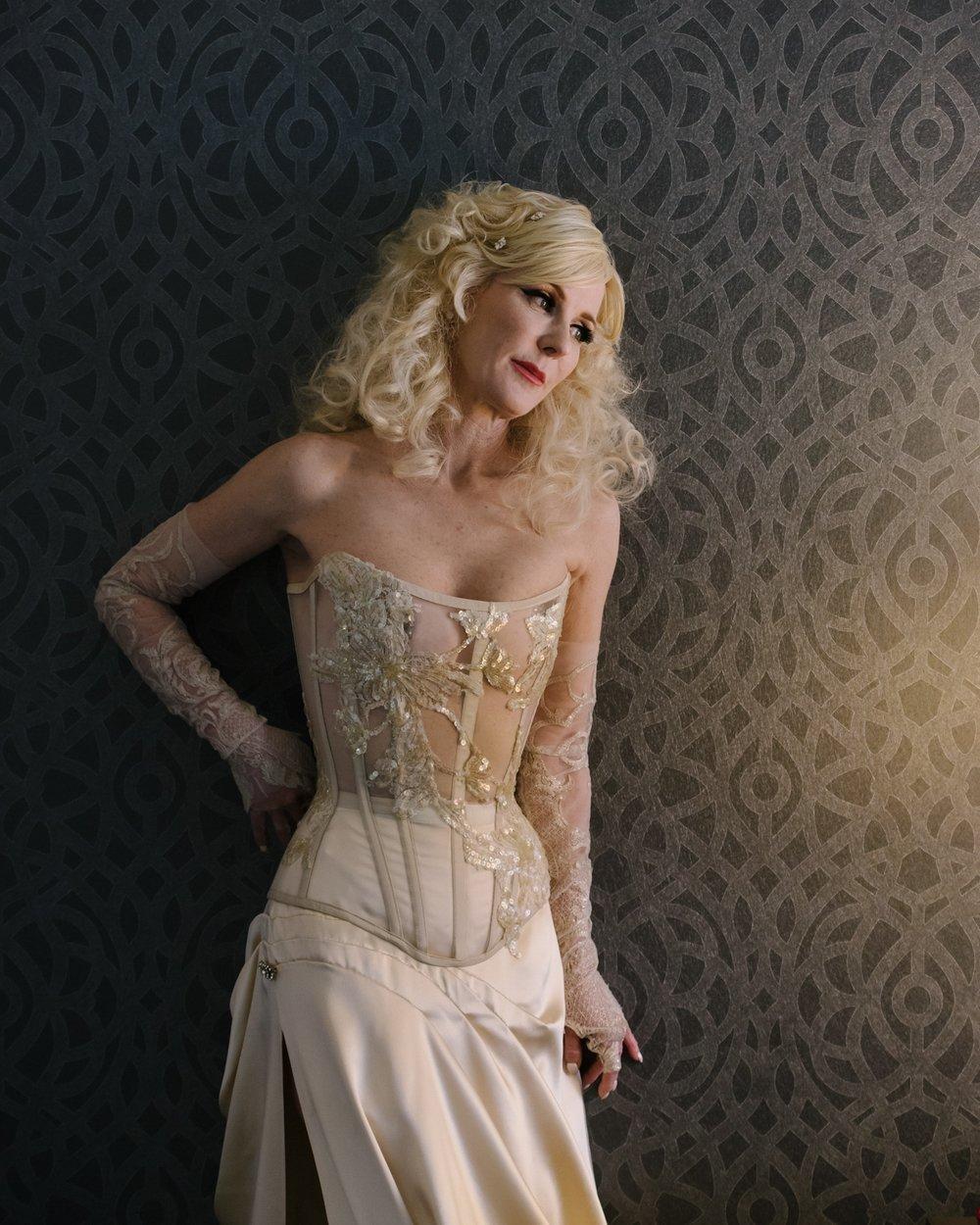 Bridal ensemble designed by Autumn Adamme Photo © Loic Nicolas