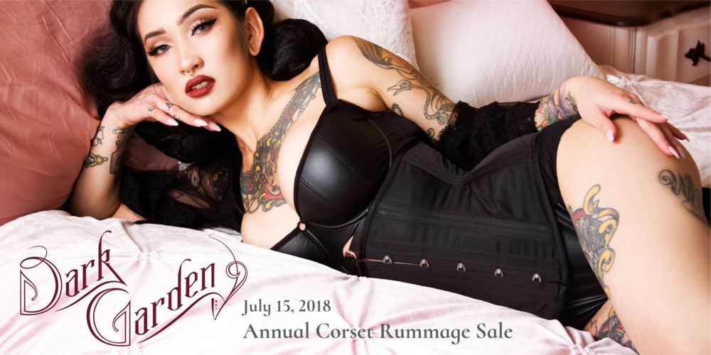 Corset: Signature Black Satin Cincher | Model: Frankie Fictitious | Photo © Gina Barbara Photography